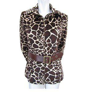 Nueva Brown and Beige Giraffe Print Jacket 10